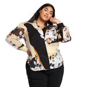 3.1 Phillip Lim for Target floral print blouse 2X